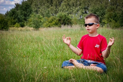 Picture of boy meditating